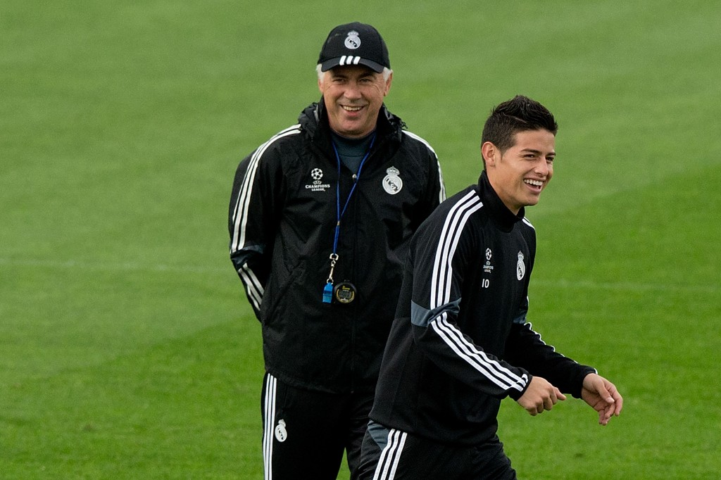 James Rodriguez wants to reunite with Carlo Ancelotti. (Photo courtesy - Gonzalo Arroyo Moreno/Getty Images)