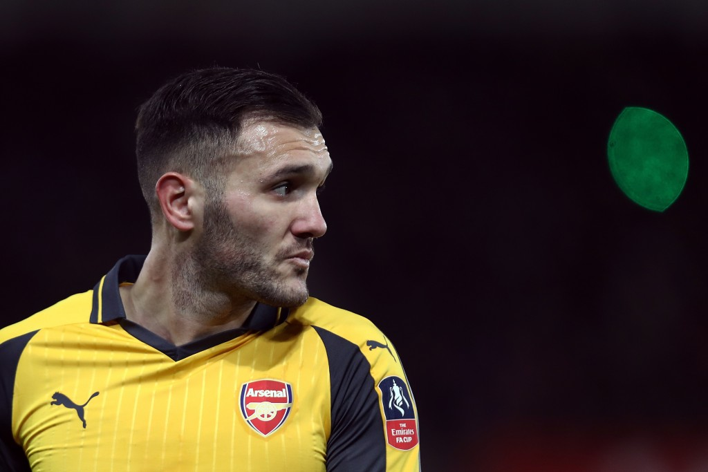 SOUTHAMPTON, ENGLAND - JANUARY 28: Lucas Perez of Arsenal looks on during the Emirates FA Cup Fourth Round match between Southampton and Arsenal at St Mary's Stadium on January 28, 2017 in Southampton, England. (Photo by Bryn Lennon/Getty Images)