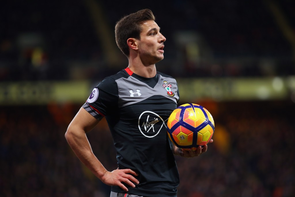 LONDON, ENGLAND - DECEMBER 03: Cedric Soares of Southampton looks on during the Premier League match between Crystal Palace and Southampton at Selhurst Park on December 3, 2016 in London, England. (Photo by Bryn Lennon/Getty Images)
