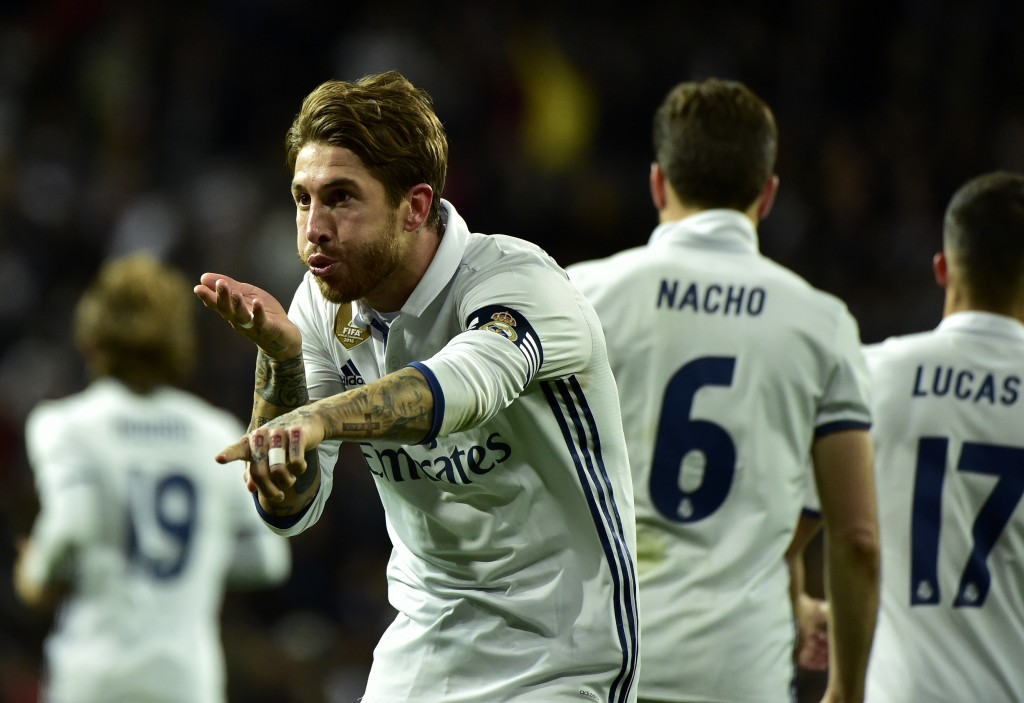 Sergio Ramos' late goals have been vital for Real Madrid this season. (Photo courtesy - Gerard Julien/AFP/Getty Images)