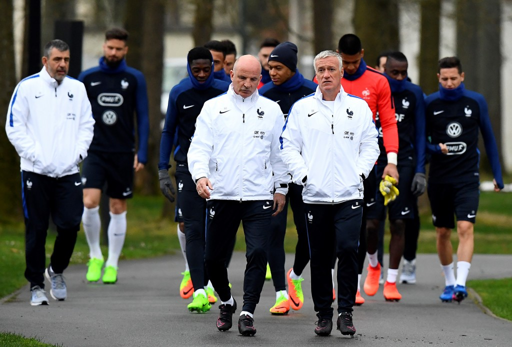 Will it be a stroll in the park for Didier Deschamps' men on Saturday? (Photo courtesy - Franck Fife/AFP/Getty Images)