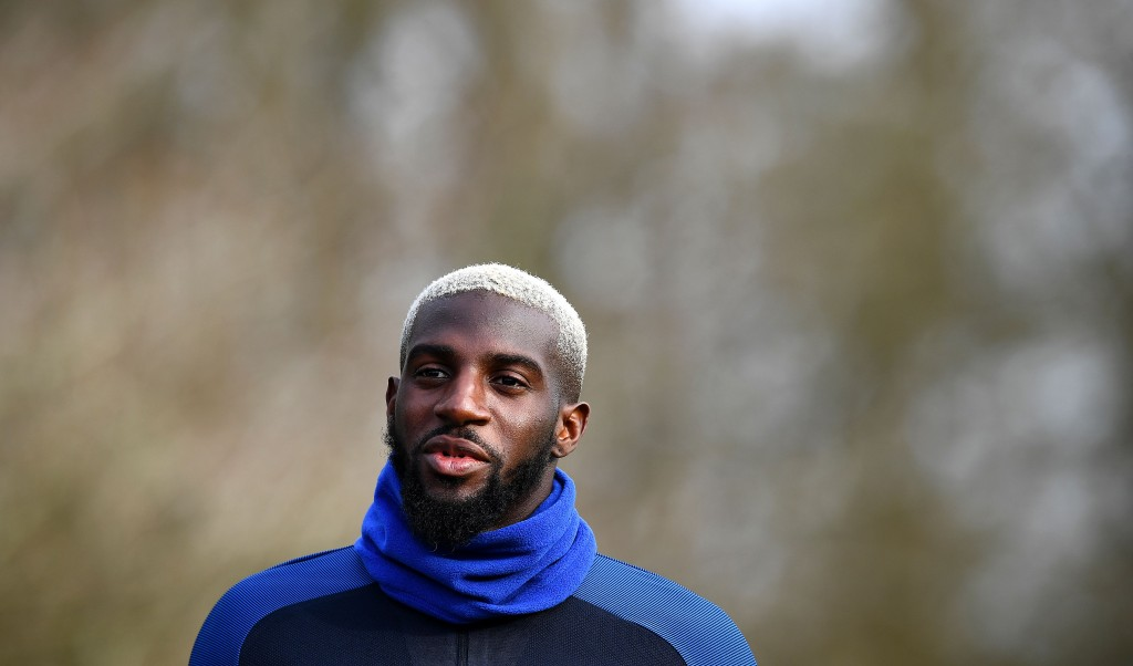 France's midfielder Tiemoue Bakayoko arrives for a training session in Clairefontaine, near Paris, on March 21, 2017, as part of the team's preparation for the upcoming World Cup 2018 qualifiers. / AFP PHOTO / FRANCK FIFE (Photo credit should read FRANCK FIFE/AFP/Getty Images)