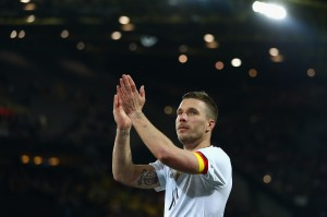 Former Arsenal forward Lukas Podolski caps off international career with vintage goal for Germany vs England [Video]