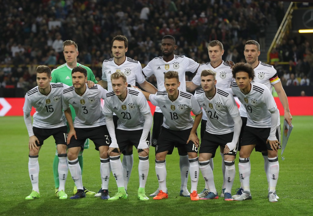 DORTMUND, GERMANY - MARCH 22: The Germany team pose for a photograph prior to the international friendly match between Germany and England at Signal Iduna Park on March 22, 2017 in Dortmund, Germany. (Photo by Maja Hitij/Bongarts/Getty Images)