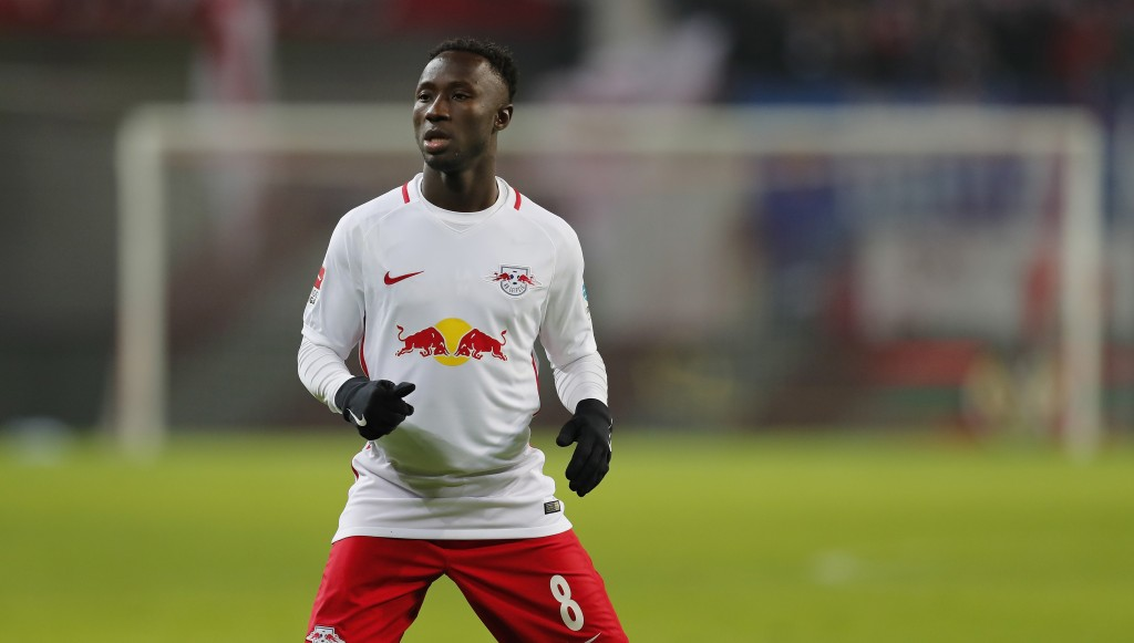 LEIPZIG, GERMANY - JANUARY 21: Naby Keita of RB Leipzig looks on during the Bundesliga match between RB Leipzig and Eintracht Frankfurt at Red Bull Arena on January 21, 2017 in Leipzig, Germany. (Photo by Boris Streubel/Bongarts/Getty Images)