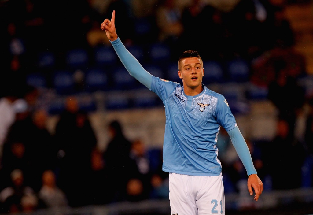 ROME, ITALY - SEPTEMBER 23: Sergej Milinkovic-Savic of SS Lazio reacts during the Serie A match between SS Lazio and Genoa CFC at Stadio Olimpico on September 23, 2015 in Rome, Italy. (Photo by Paolo Bruno/Getty Images)