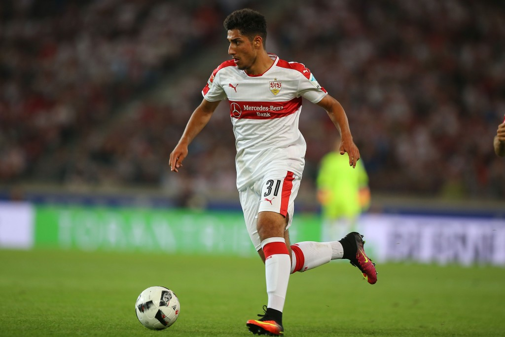 STUTTGART, GERMANY - AUGUST 08: Berkay Oezcan of Stuttgart runs with the ball during the Second Bundesliga match between VfB Stuttgart and FC St. Pauli at Mercedes-Benz Arena on August 8, 2016 in Stuttgart, Germany. (Photo by Thomas Niedermueller/Bongarts/Getty Images)