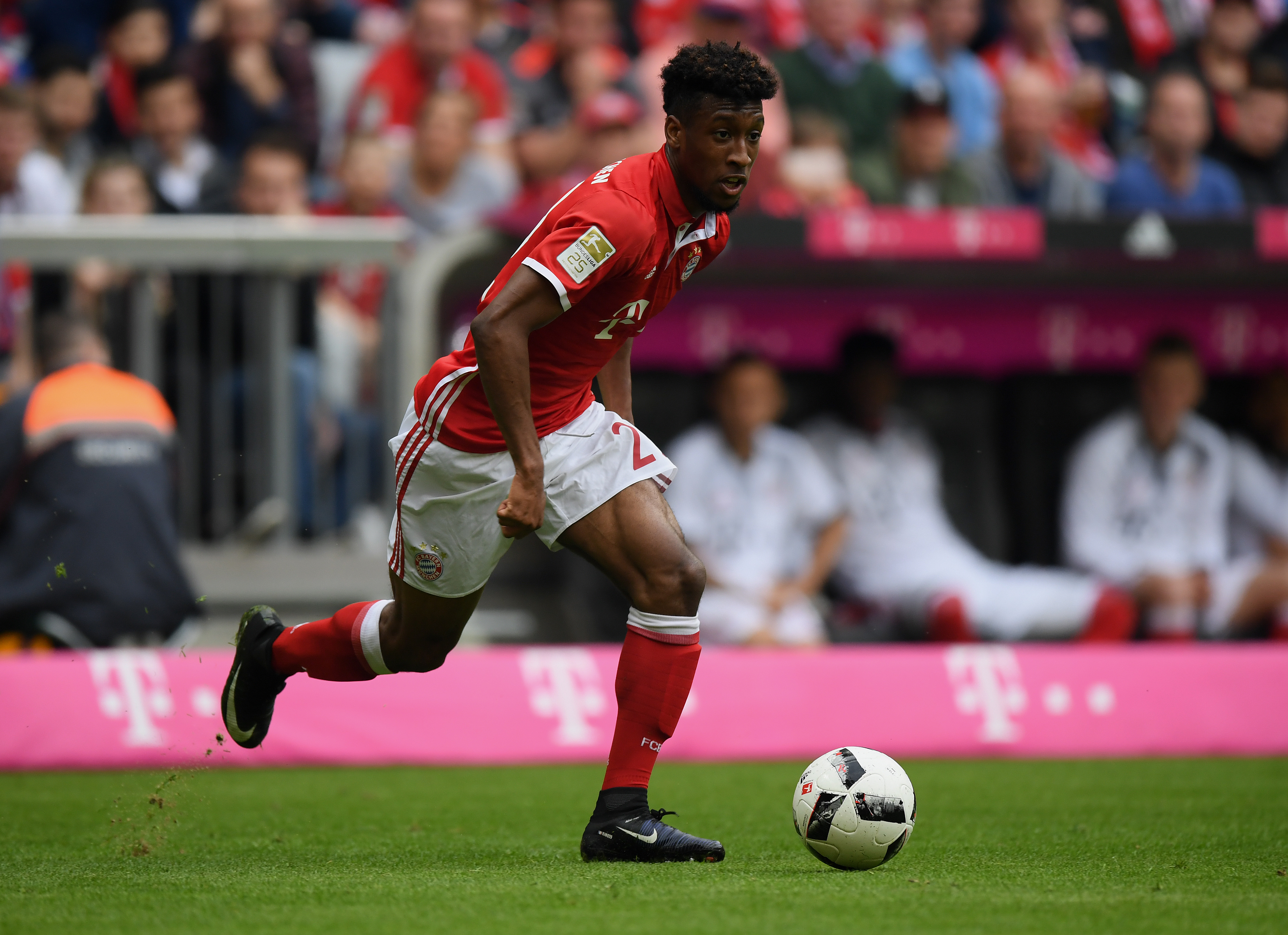 Could Coman be on his way out of Bayern next year? (Photo by Matthias Hangst/Bongarts/Getty Images)