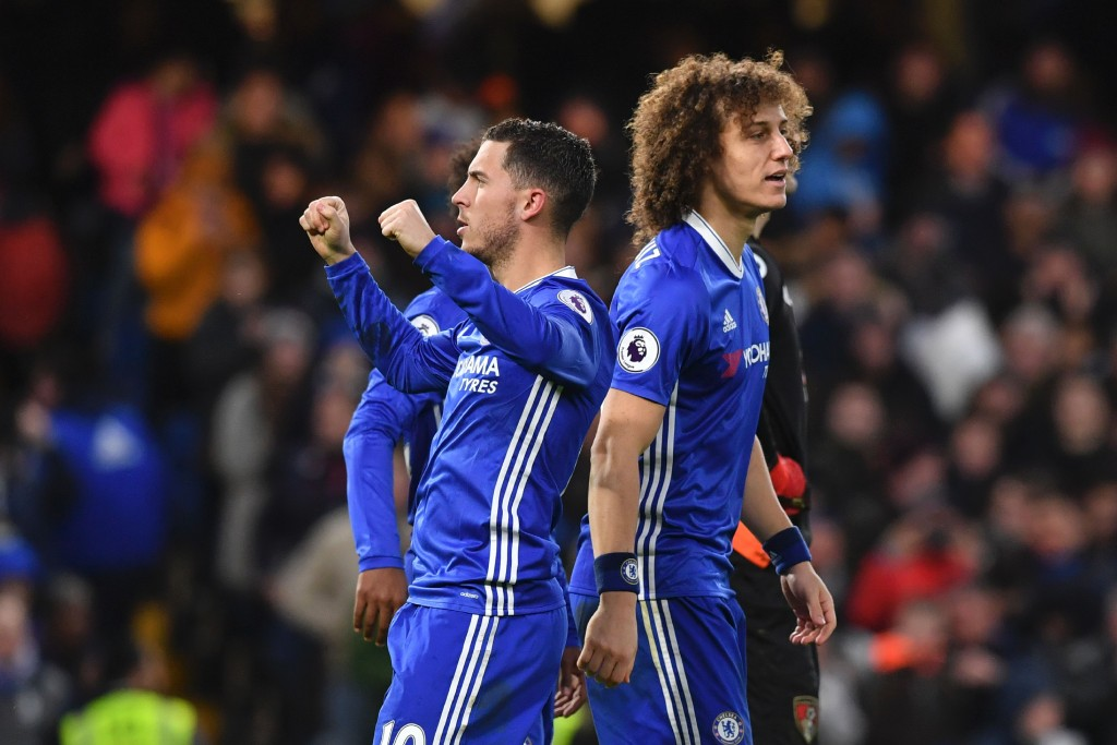 Eden Hazard was on fire as the False nine in the reverse fixture at Stamford Bridge. (Photo courtesy - Ben Stansall/AFP/Getty Images)