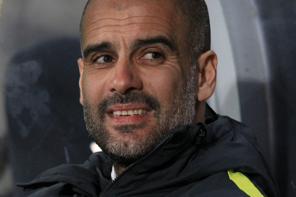 Will Pep Guardiola be smiling on Saturday? (Photo courtesy - Lindsey Parnaby/AFP/Getty Images)