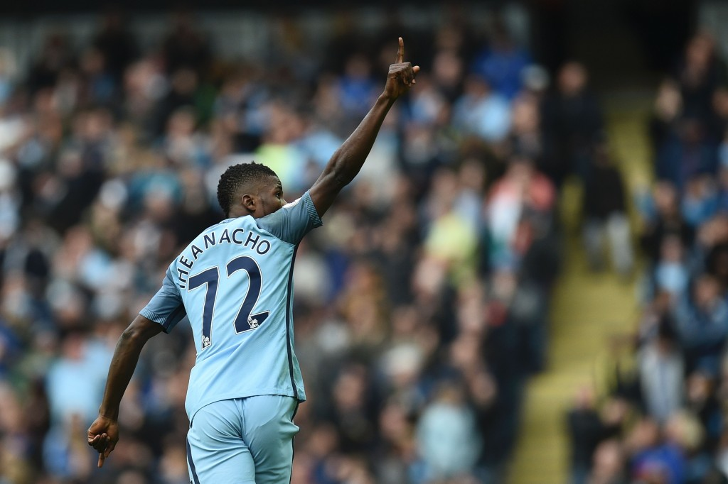 Manchester City's forgotten man Kelechi Iheanacho scored the vital equaliser for his side in the reverse fixture. (Photo courtesy - Oli Scarff/AFP/Getty Images)