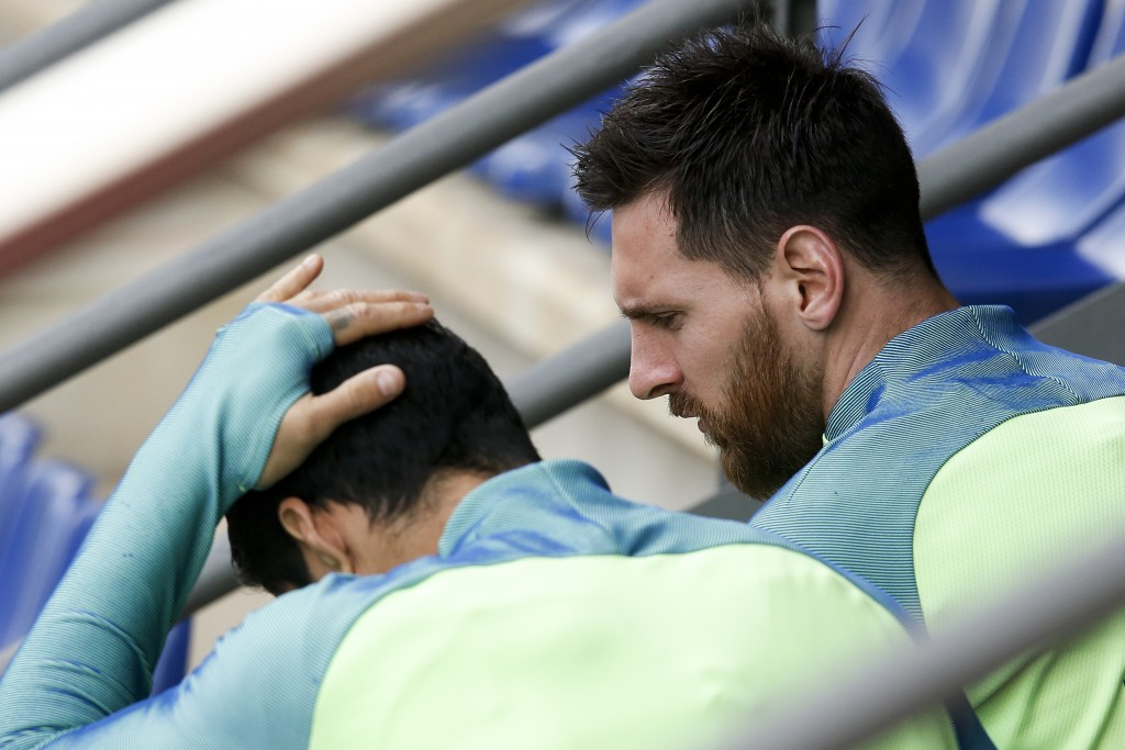 Lionel Messi was frustrated at the way their match against Malaga ended. PAU BARRENA/AFP/Getty Images