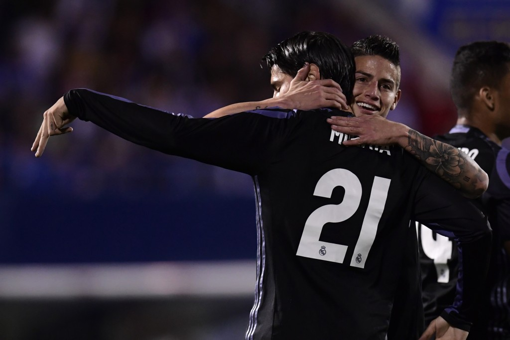 Could Morata and James be heading to Juventus? (Photo courtesy - Javier Soriano/AFP/Getty Images)