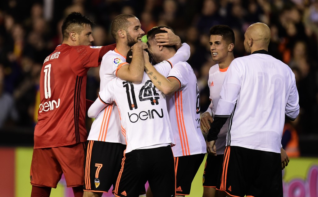 Valencia handed Real Madrid a shock loss in the reverse fixture. (Photo courtesy - Jose Jordan/AFP/Getty Images)