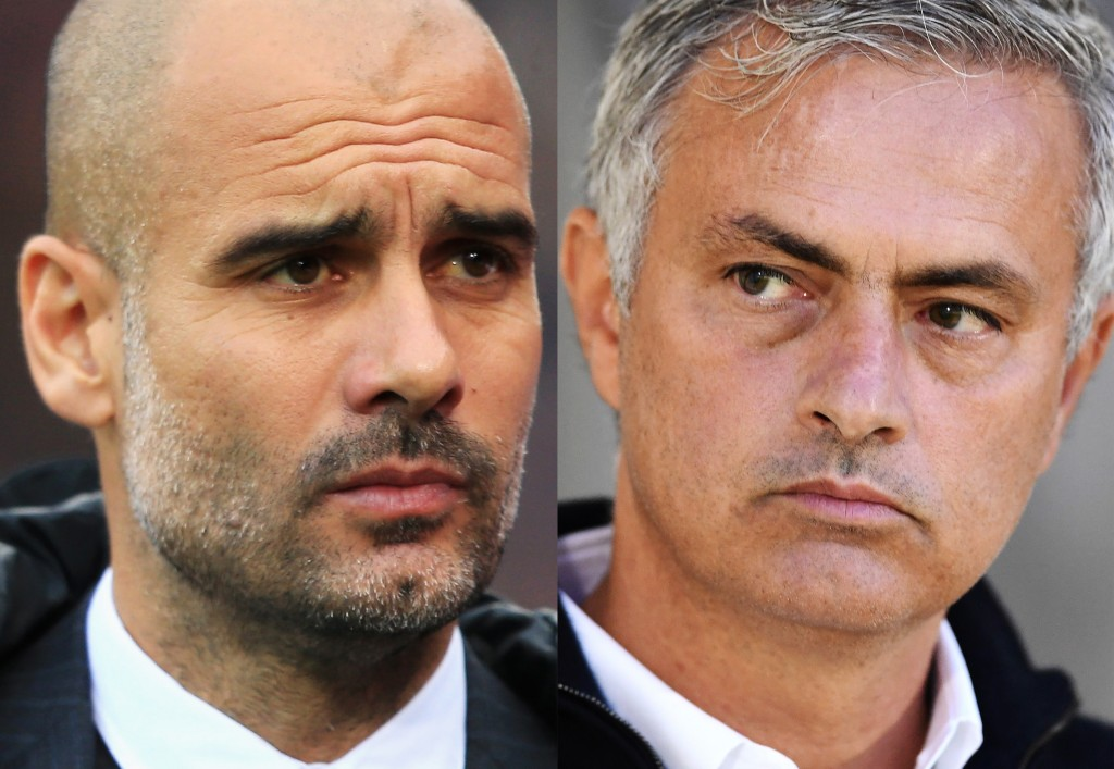 Who will come out on top in the last meeting between Pep Guardiola and Jose Mourinho this season? (Photo courtesy - Laurence Griffiths, Stephen Pond/Getty Images)