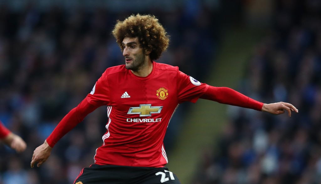 MANCHESTER, ENGLAND - APRIL 27: Marouane Fellaini of Manchester United in action during the Premier League match between Manchester City and Manchester United at Etihad Stadium on April 27, 2017 in Manchester, England. (Photo by Clive Brunskill/Getty Images)