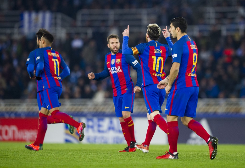 Lionel Messi saved Barcelona the blushes in the reverse fixture in November. (Photo courtesy - Juan Manuel Serrano Arce/Getty Images)