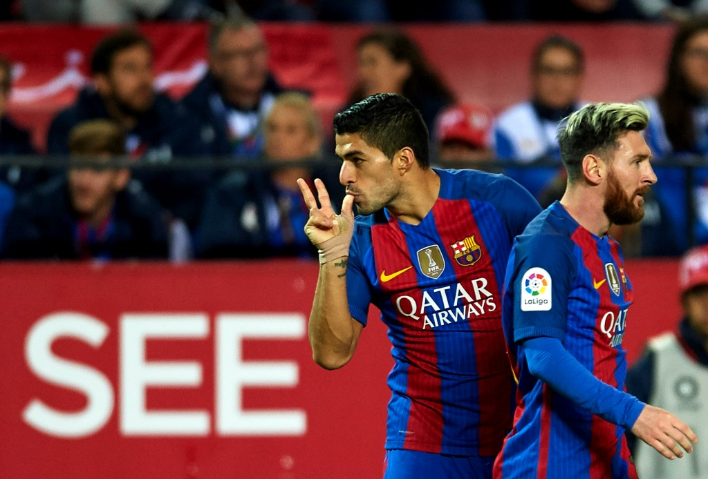 Luis Suarez and Lionel Messi's goals ensured a comeback win for Barcelona in the reverse fixture. (Photo courtesy - Aitor Alcalde/Getty Images)