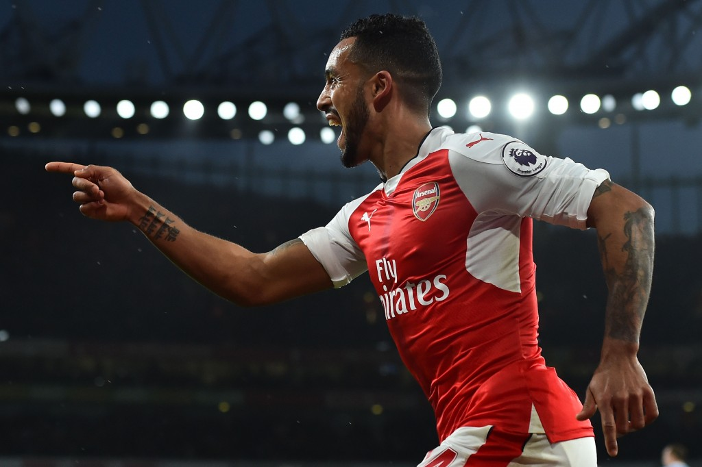 Theo Walcott scored his 100th goal in club football to help Arsenal to a 3-1 win in the reverse fixture. (Photo courtesy - Glyn Kirk/AFP/Getty Images)