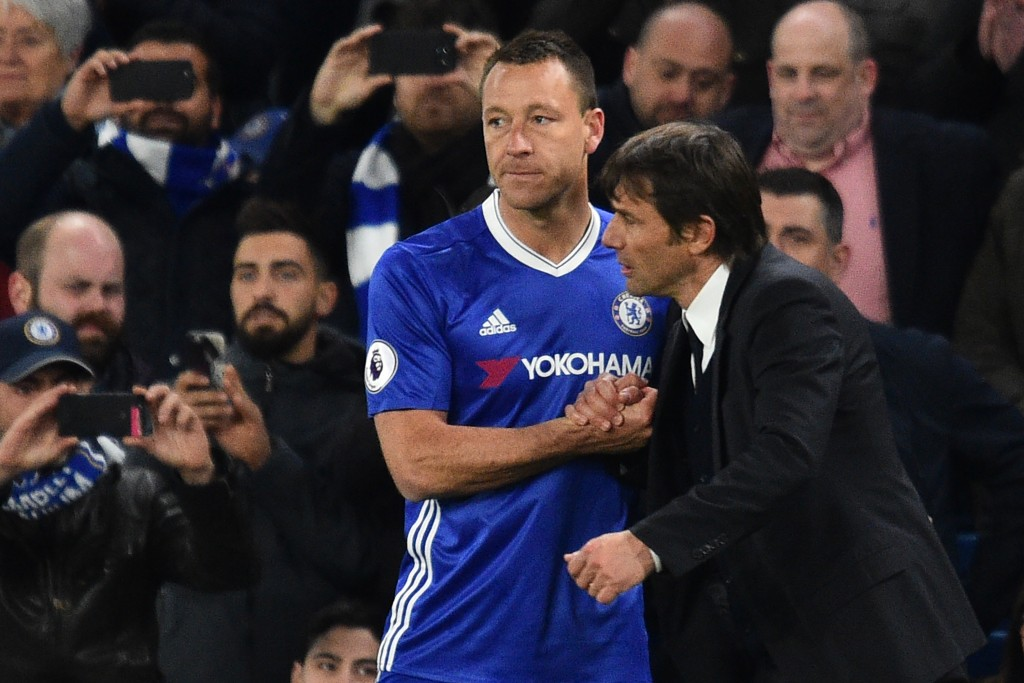 John Terry is in line to get two final games at Stamford Bridge as a Chelsea player. (Photo courtesy - Glyn Kirk/AFP/Getty Images)