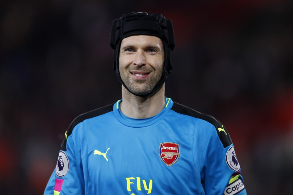 Cech kept Arsenal in the game with two big saves in the first half. (Photo courtesy - Adrian Dennis/AFP/Getty Images)