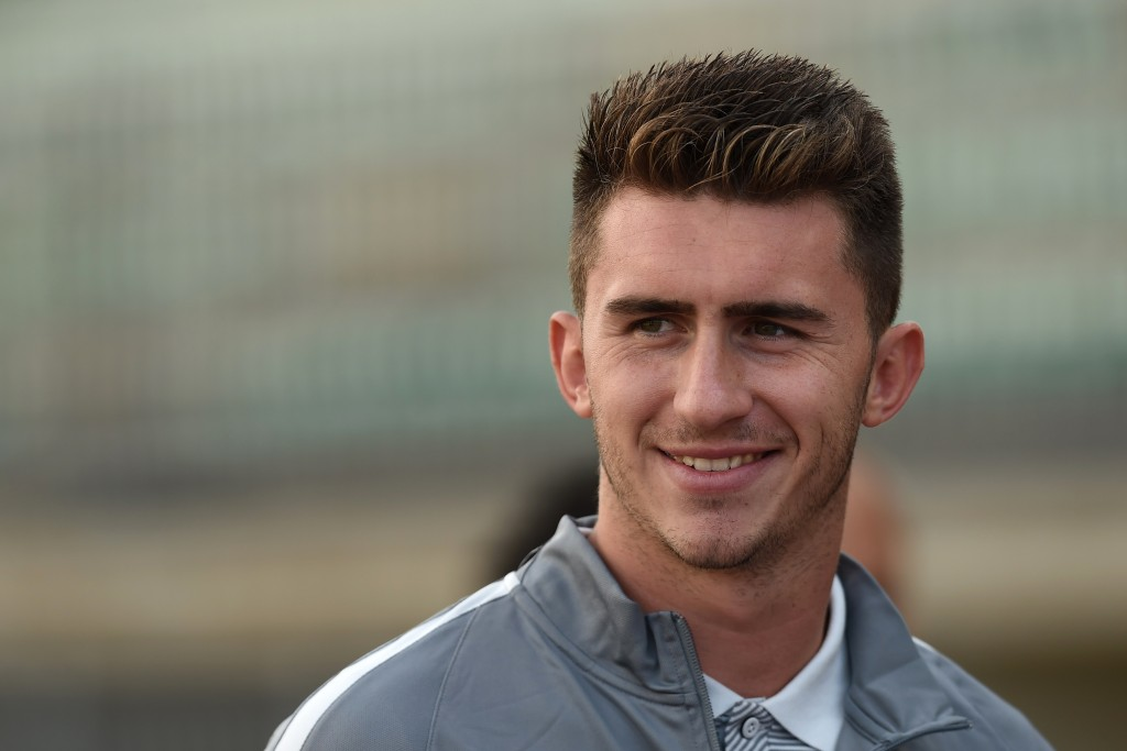 Athletic Bilbao's French defender Aymeric Laporte looks on prior to the friendly football match between Bordeaux and Athletic Bilbao on July 23, 2016 in Tarnos, southwestern France. / AFP / NICOLAS TUCAT (Photo credit should read NICOLAS TUCAT/AFP/Getty Images)