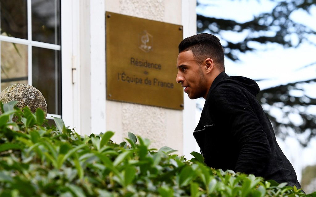 France's midfielder Corentin Tolisso arrives at the French national football team training base in Clairefontaine near Paris, on March 20, 2017, as part of the team's preparation for the upcoming World Cup 2018 qualifiers. / AFP PHOTO / FRANCK FIFE (Photo credit should read FRANCK FIFE/AFP/Getty Images)