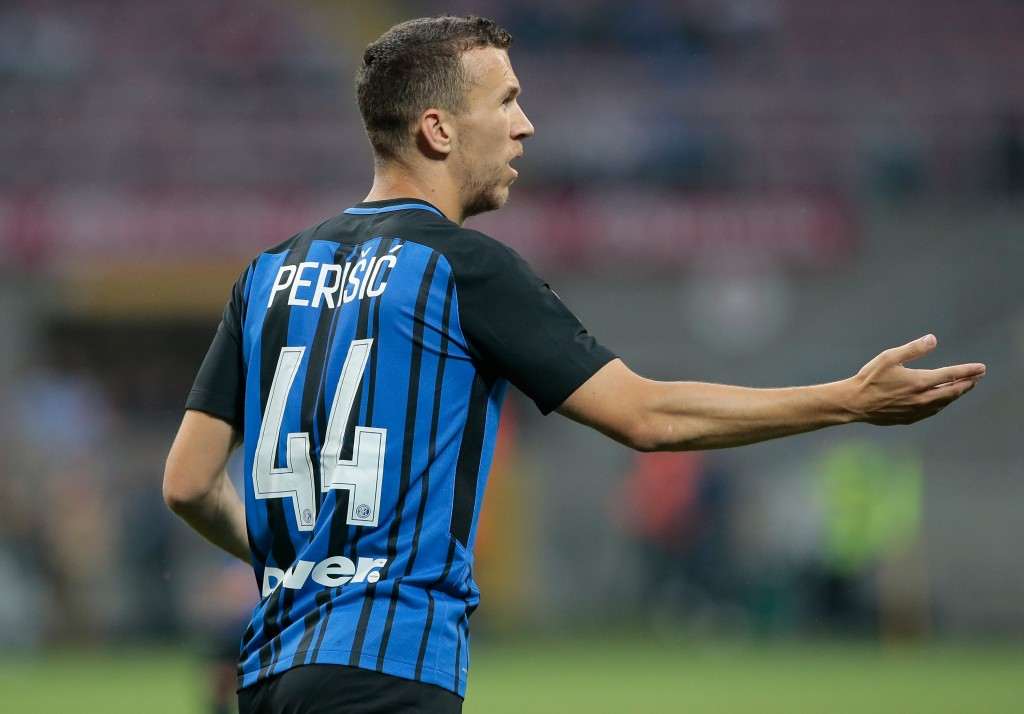 MILAN, ITALY - MAY 28: Ivan Perisic of FC Internazionale Milano gestures during the Serie A match between FC Internazionale and Udinese Calcio at Stadio Giuseppe Meazza on May 28, 2017 in Milan, Italy. (Photo by Emilio Andreoli/Getty Images)