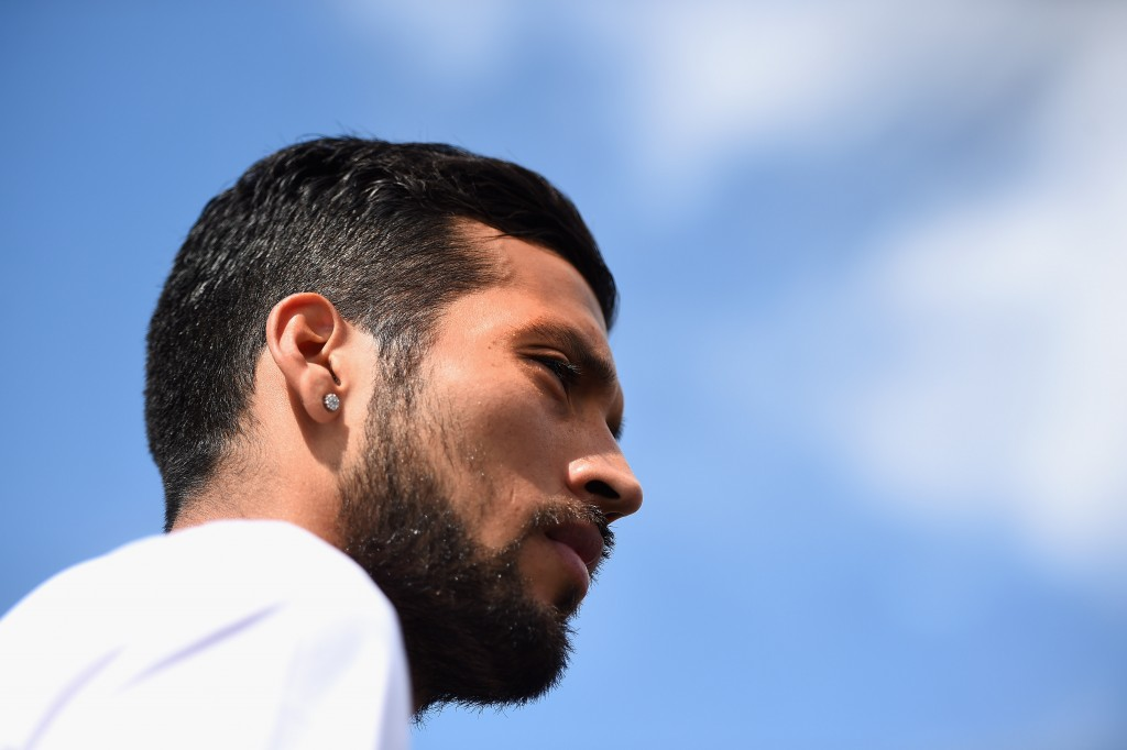 SAINT PETERSBURG, RUSSIA - JULY 20: Ezequiel Garay of FC Zenit Saint Petersburg speaks to the media during a press conference at the Zenit Training Centre during a media tour of Russia 2018 FIFA World Cup venues on July 20, 2015 in Saint Petersburg, Russia. (Photo by Laurence Griffiths/Getty Images)