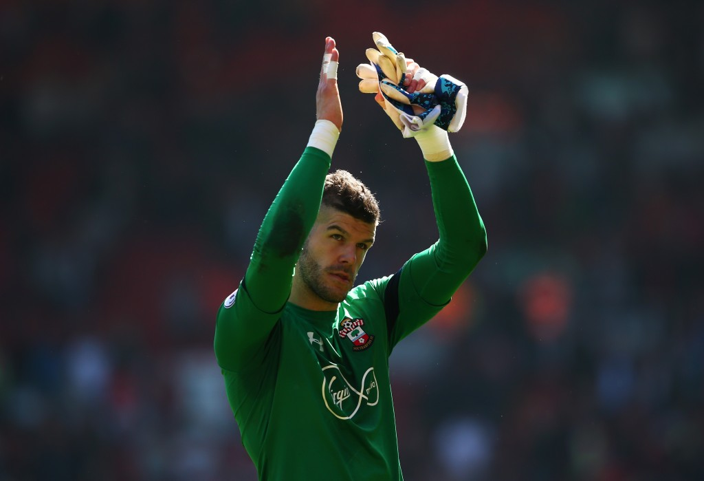 Fraser Forster has recorded 14 clean sheets. (Photo by Alex Livesey/Getty Images)