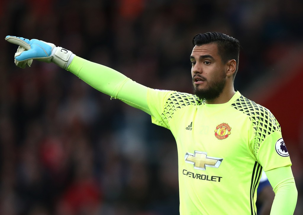 SOUTHAMPTON, ENGLAND - MAY 17: Sergio Romero of Manchester United looks on during the Premier League match between Southampton and Manchester United at St Mary's Stadium on May 17, 2017 in Southampton, England. (Photo by Julian Finney/Getty Images)
