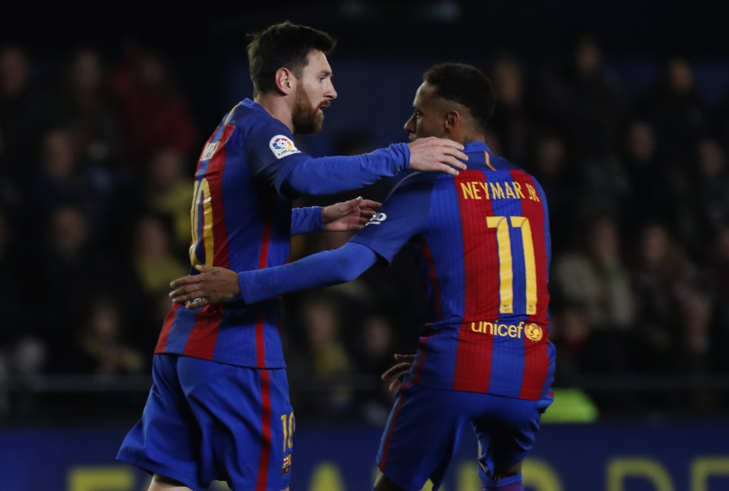 Lionel Messi's last minute free-kick saved Barcelona's blushes in the reverse fixture. (Photo courtesy - Jose Jordan/AFP/Getty Images)
