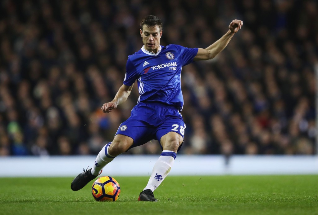 LONDON, ENGLAND - JANUARY 04: Cesar Azpilicueta of Chelsea in action during the Premier League match between Tottenham Hotspur and Chelsea at White Hart Lane on January 4, 2017 in London, England. (Photo by Julian Finney/Getty Images)