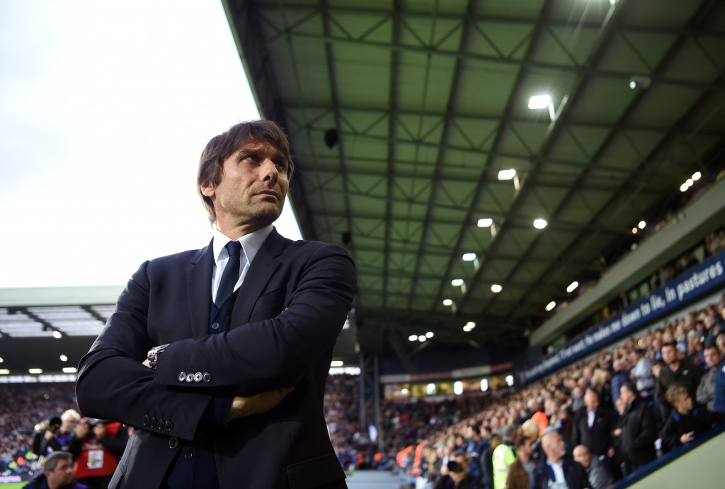 WEST BROMWICH, ENGLAND - MAY 12: Antonio Conte, Manager of Chelsea looks on prior to the Premier League match between West Bromwich Albion and Chelsea at The Hawthorns on May 12, 2017 in West Bromwich, England. (Photo by Michael Regan/Getty Images)