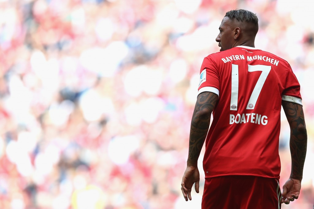 MUNICH, GERMANY - MAY 20: Jerome Boateng of Bayern Muenchen looks on during the Bundesliga match between Bayern Muenchen and SC Freiburg at Allianz Arena on May 20, 2017 in Munich, Germany. (Photo by Alexander Hassenstein/Bongarts/Getty Images)