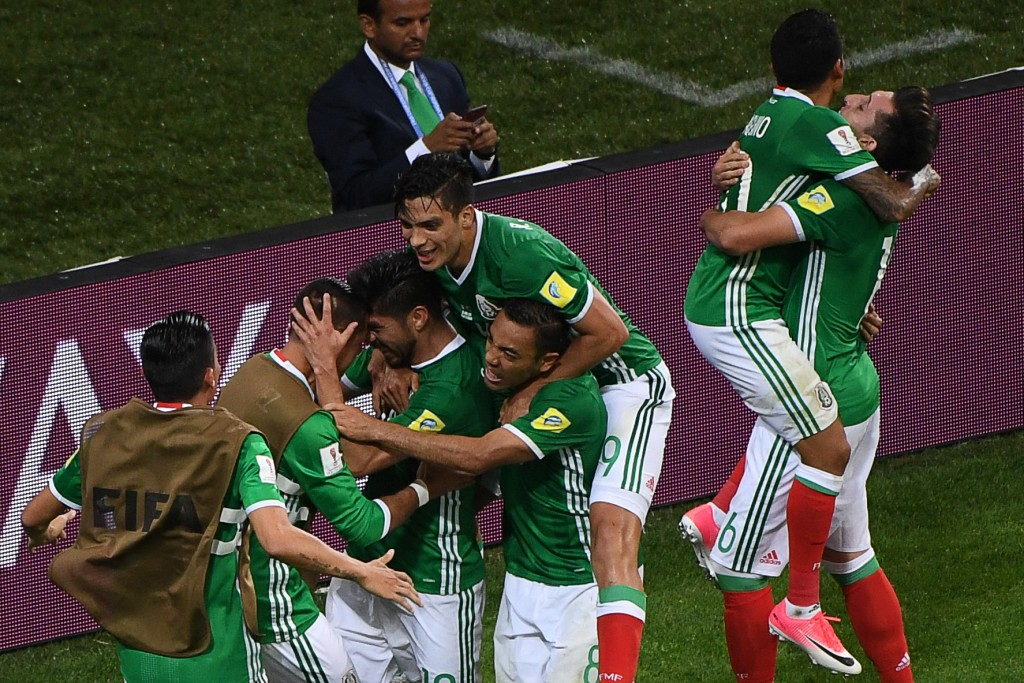 Will there be similar celebratory scenes for El Tri on Saturday? (Photo courtesy - Patrik Stollarz/AFP/Getty Images)