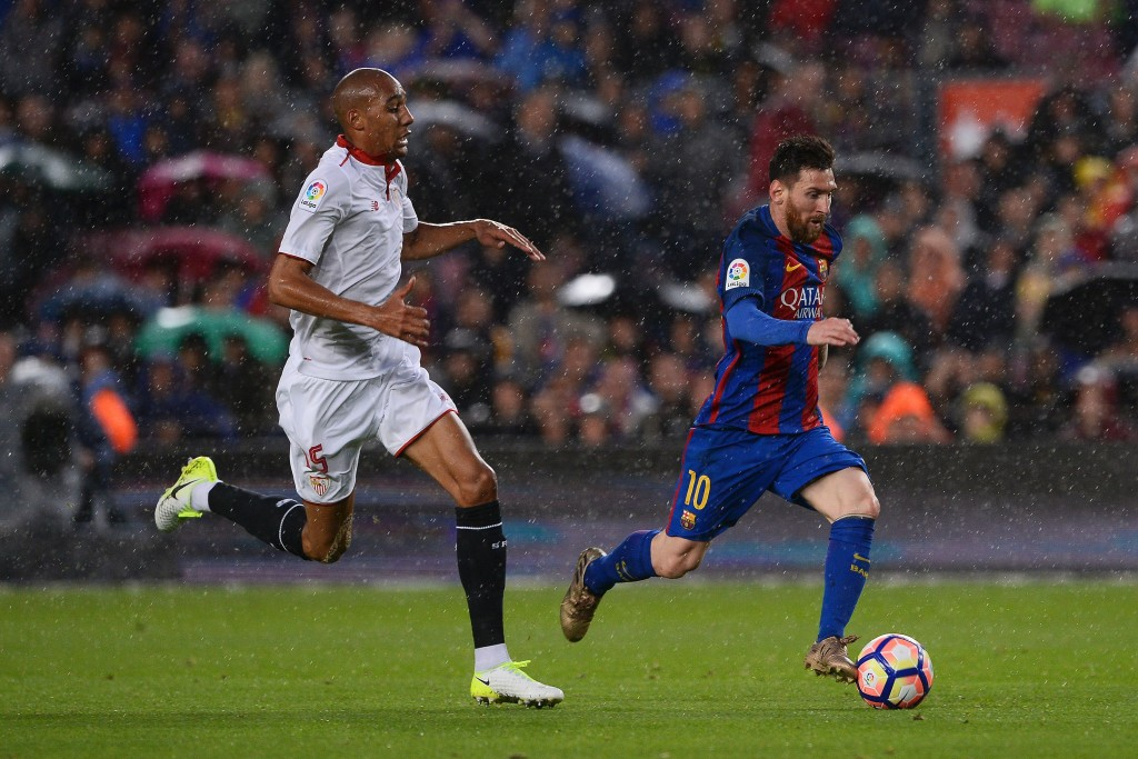 Will N'Zonzi be lining up alongside Lionel Messi next season? (Photo courtesy - Josep Lago/AFP/Getty Images)