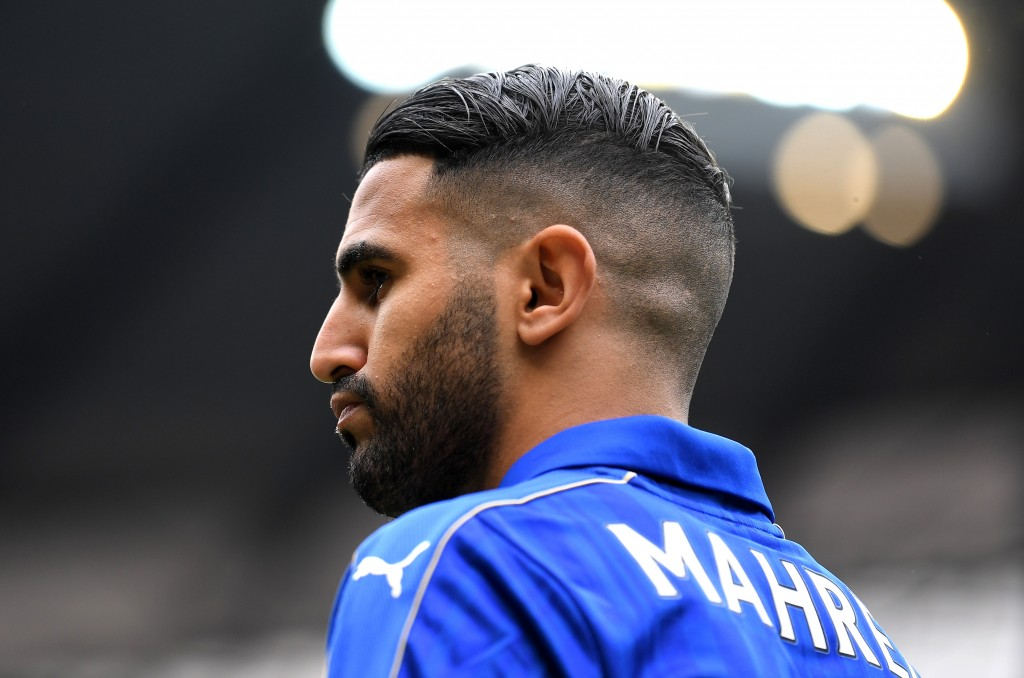 MANCHESTER, ENGLAND - MAY 13: Riyad Mahrez of Leicester City looks on during the Premier League match between Manchester City and Leicester City at Etihad Stadium on May 13, 2017 in Manchester, England. (Photo by Laurence Griffiths/Getty Images)