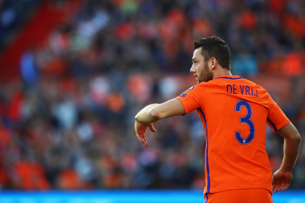 Stefan de Vrij will be unavailable for Netherlands against Italy due to injury. (Photo by Dean Mouhtaropoulos/Getty Images)
