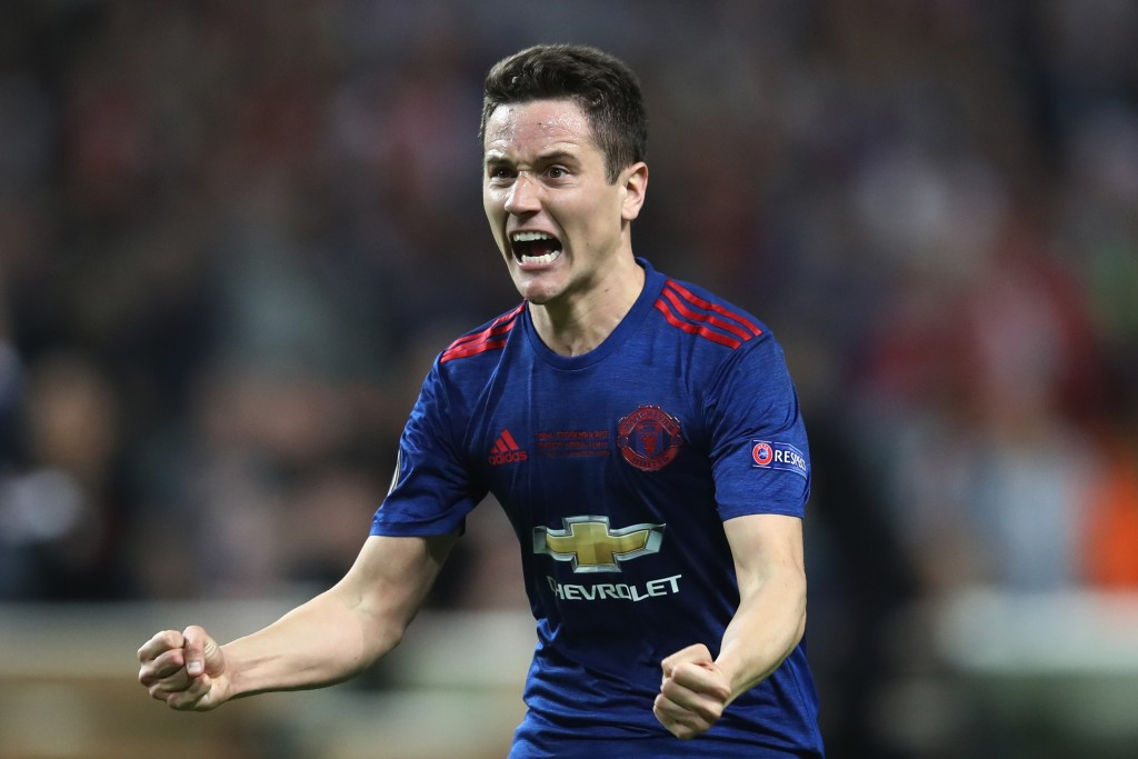 STOCKHOLM, SWEDEN - MAY 24: Ander Herrera of Manchester United celebrates victory following the UEFA Europa League Final between Ajax and Manchester United at Friends Arena on May 24, 2017 in Stockholm, Sweden. (Photo by Julian Finney/Getty Images)