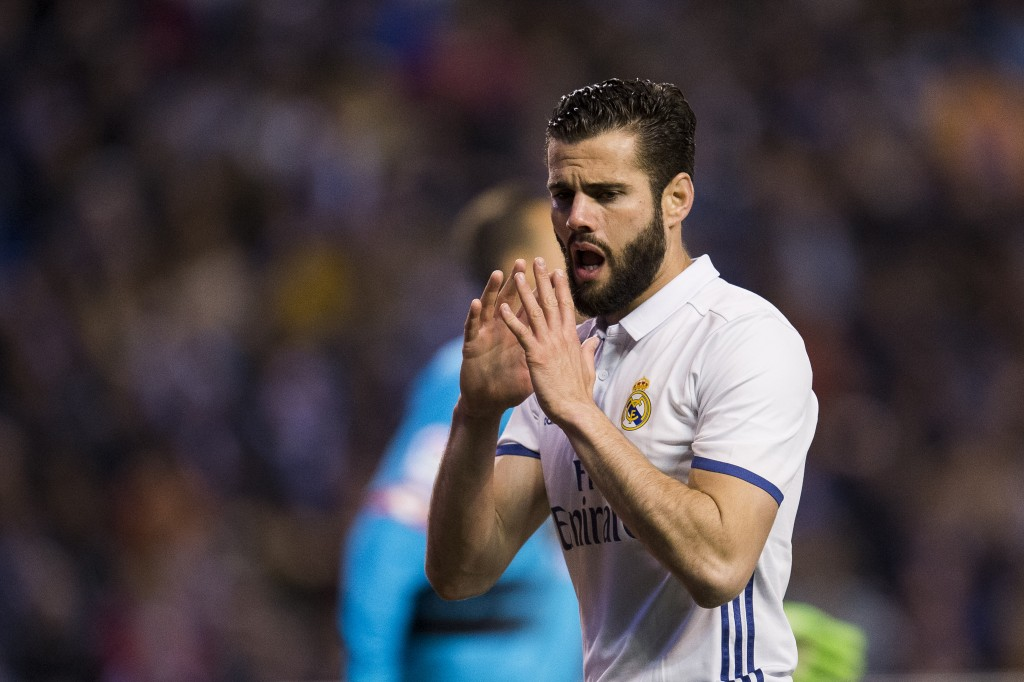 LA CORUNA, SPAIN - APRIL 26: Nacho Fernandez of Real Madrid reacts during the La Liga match between RC Deportivo La Coruna and Real Madrid at Riazor Stadium on April 26, 2017 in La Coruna, Spain. (Photo by Juan Manuel Serrano Arce/Getty Images)