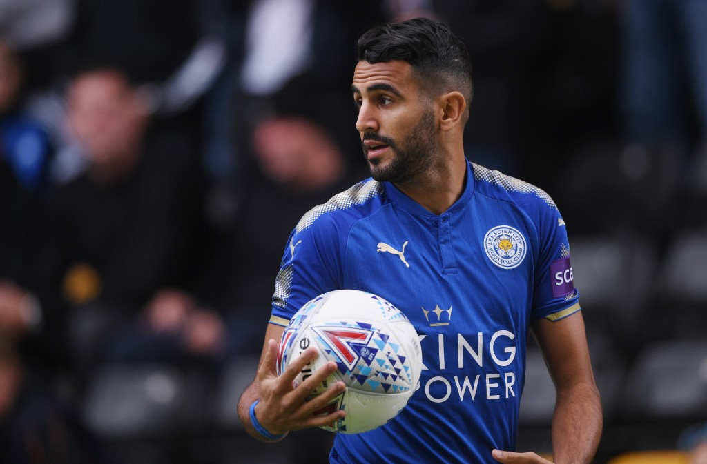 WOLVERHAMPTON, ENGLAND - JULY 29: Riyad Mahrez of Leicester looks on during the pre-season friendly match between Wolverhampton Wanderers and Leicester City at Molineux on July 29, 2017 in Wolverhampton, England. (Photo by Michael Regan/Getty Images)
