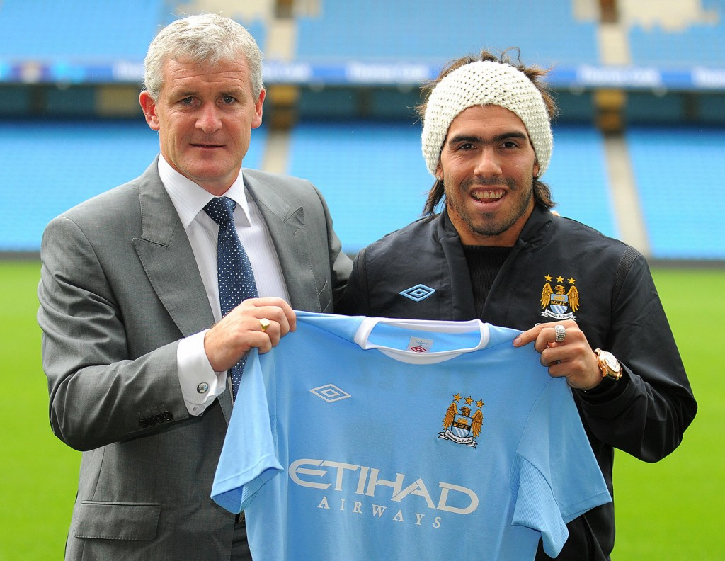 Tevez burned a lot of bridges during his time at Manchester City. (Photo courtesy - Andrew Yates/AFP/Getty Images)