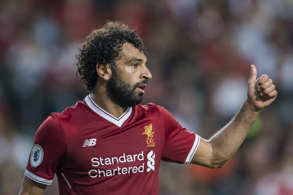 HONG KONG, HONG KONG - JULY 22: Liverpool FC forward Mohamed Salah reacts during the Premier League Asia Trophy match between Liverpool FC and Leicester City FC at Hong Kong Stadium on July 22 2017, in Hong Kong, Hong Kong. (Photo by Victor Fraile/Getty Images)