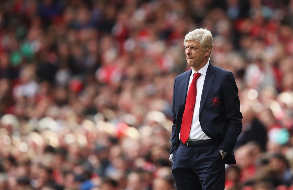 LONDON, ENGLAND - SEPTEMBER 09: Arsene Wenger, Manager of Arsenal looks on during the Premier League match between Arsenal and AFC Bournemouth at Emirates Stadium on September 9, 2017 in London, England. (Photo by Julian Finney/Getty Images)