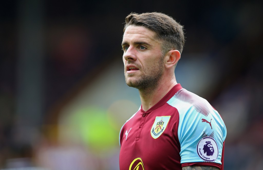 BURNLEY, ENGLAND - SEPTEMBER 10: Robbie Brady of Burnley during the Premier League match between Burnley and Crystal Palace at Turf Moor on September 10, 2017 in Burnley, England. (Photo by Alex Livesey/Getty Images)