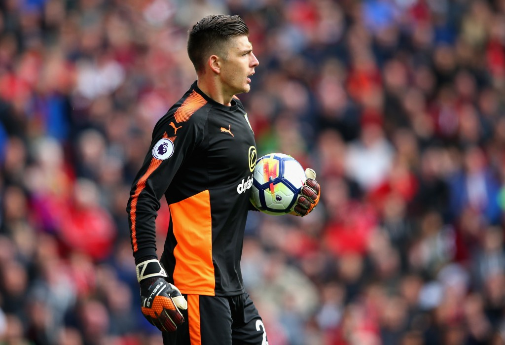 LIVERPOOL, ENGLAND - SEPTEMBER 16: Nick Pope of Burnley looks on during the Premier League match between Liverpool and Burnley at Anfield on September 16, 2017 in Liverpool, England. (Photo by Alex Livesey/Getty Images)