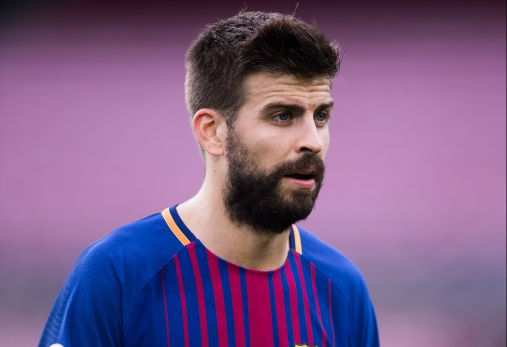 BARCELONA, SPAIN - OCTOBER 01: Gerard Pique of FC Barcelona looks on after the La Liga match between Barcelona and Las Palmas at Camp Nou on October 1, 2017 in Barcelona, Spain. The match is being played with empty stands after the events occured in Catalonia during the voting of a Catalonia independence referendum declared illegal and undemocratic by the Spanish government. (Photo by Alex Caparros/Getty Images)