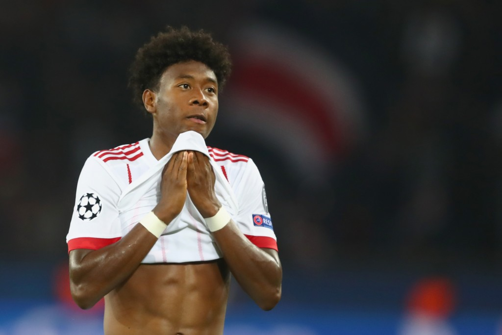 PARIS, FRANCE - SEPTEMBER 27: David Alaba of FC Bayern Muenchen reacts after the UEFA Champions League group B match between Paris Saint-Germain and Bayern Muenchen at Parc des Princes on September 27, 2017 in Paris, France. (Photo by Alexander Hassenstein/Bongarts/Getty Images)