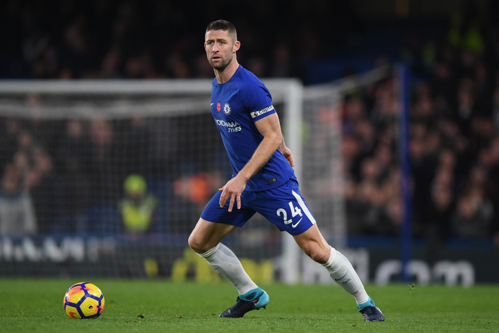LONDON, ENGLAND - NOVEMBER 05: Gary Cahill of Chelsea in action during the Premier League match between Chelsea and Manchester United at Stamford Bridge on November 5, 2017 in London, England. (Photo by Shaun Botterill/Getty Images)